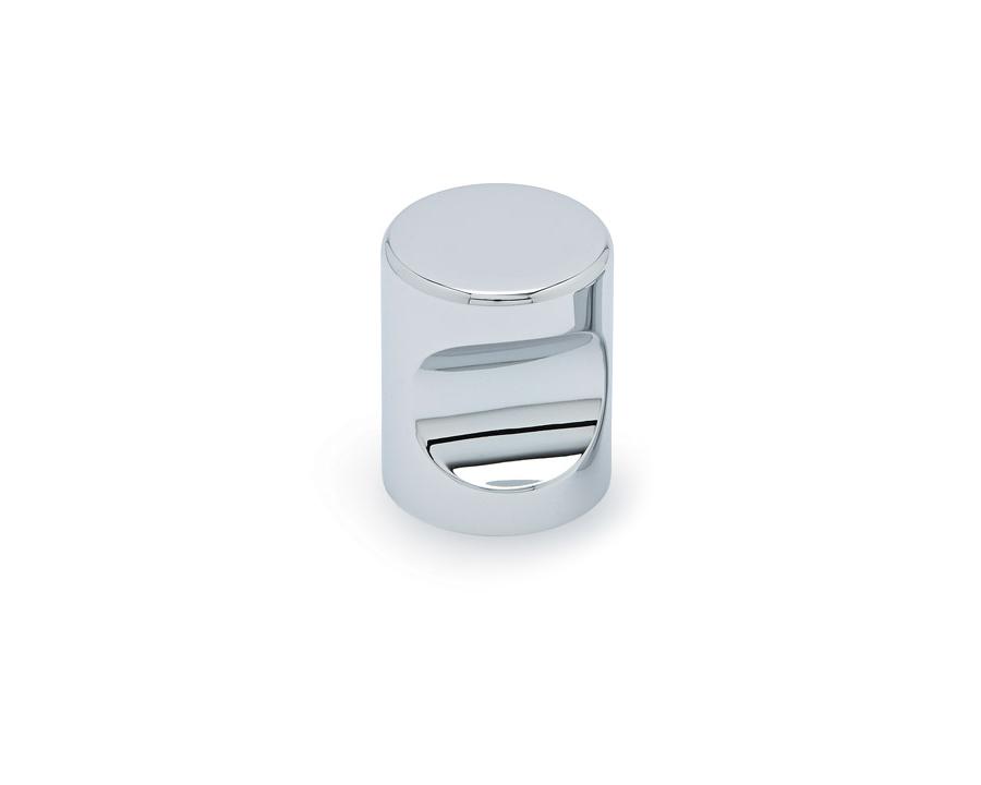 Cylinder Knob In Chrome Aluminium 25mm