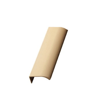 Furnipart Edge Straight - 100mm Long - Brass
