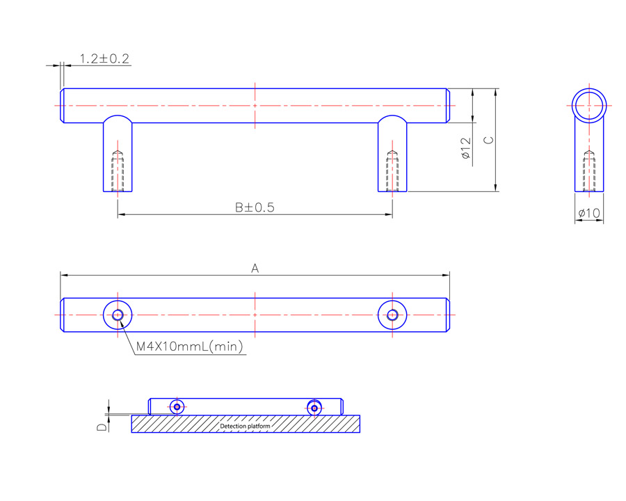 T Bar Handle 188mm Long