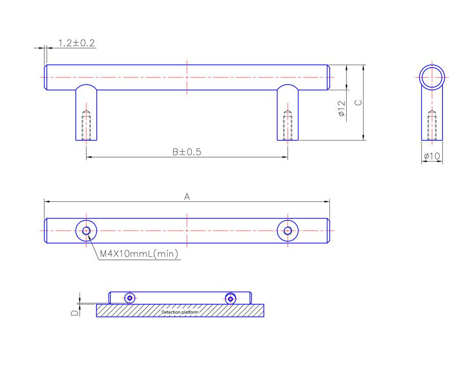 T Bar Handle 210mm Long