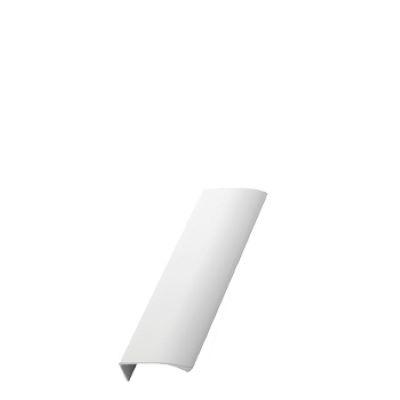 Furnipart Edge Straight - 100mm Long - White