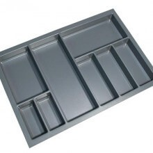 Cutlery Tray Suit 800mm Wide Drawer (Grey)