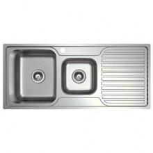 Platinum Sink - 1 Tap - Left Hand Bowl - Right Hand Drainer