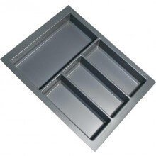 Cutlery Tray Suit 450mm Wide Drawer (Grey)