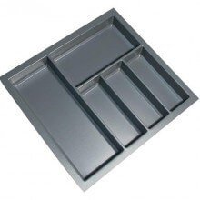 Cutlery Tray Suit 600mm Wide Drawer (Grey)
