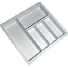 Cutlery Tray Suit 600mm Wide Drawer (White)