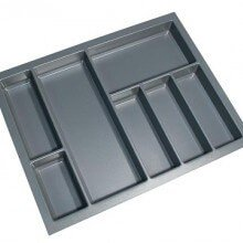 Cutlery Tray Suit 700mm Wide Drawer (Grey)