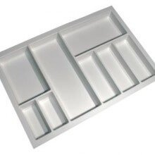 Cutlery Tray Suit 800mm Wide Drawer (White)