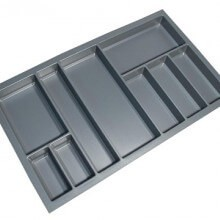 Cutlery Tray Suit 900mm Wide Drawer (Grey)
