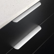 Edge Round Furnipart - 200mm Long - Inox