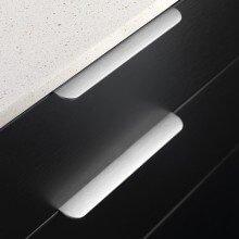 Furnipart Edge Round - 350mm Long - Inox