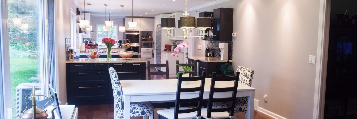 IKEA kitchen cabinets Perth - with white marble counters