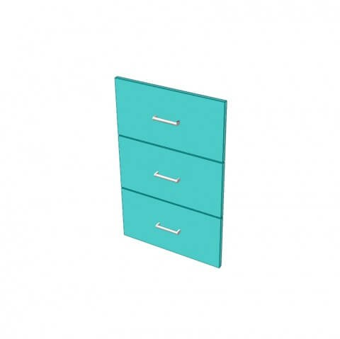 ABS Edged 3 Drawer