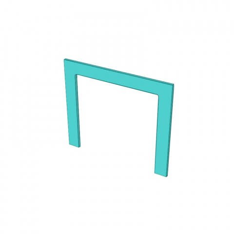 Painted Appliance Frame