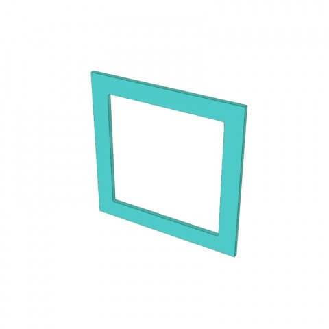 Raw MDF 1 Hole Frame