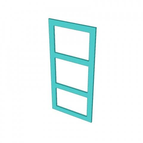 Stylelite® Acrylic 3 Hole Frame