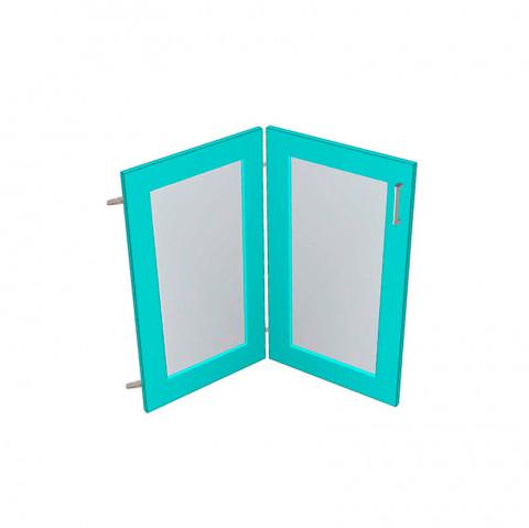 Raw MDF Corner Doors - Glass Panel