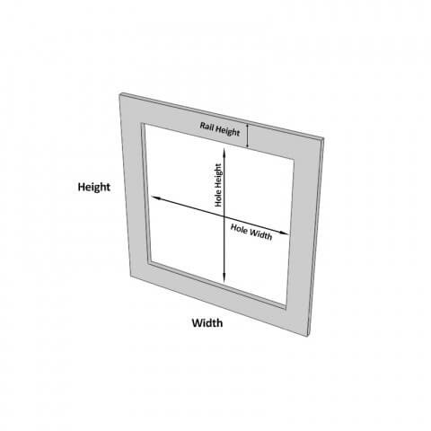1 Hole Frame Dimensions