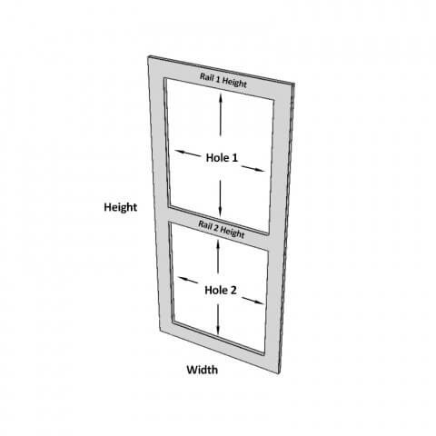 2 Hole Frame Dimensions