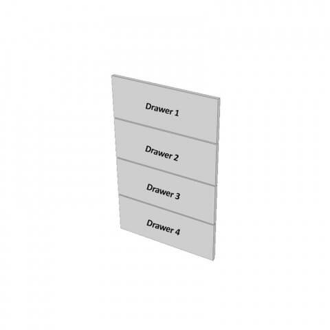 4 Drawers Dimensions