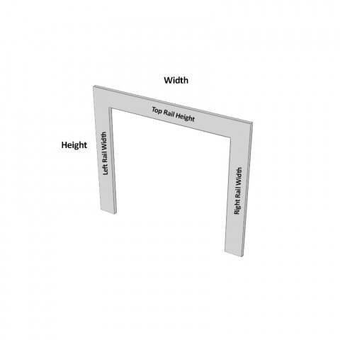 Appliance Frame Dimensions