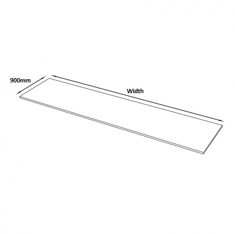 Straight 4100 x 900 dimensions
