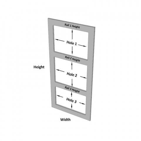 3 Hole Frame Dimensions