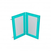 Raw MDF Corner Glass Panel Doors