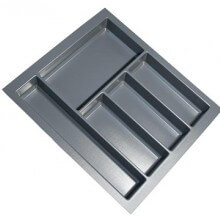 Cutlery Tray Suit 500mm Wide Drawer (Grey)
