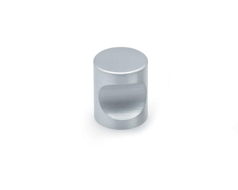 Cylinder Knob In Satin Aluminium 25mm